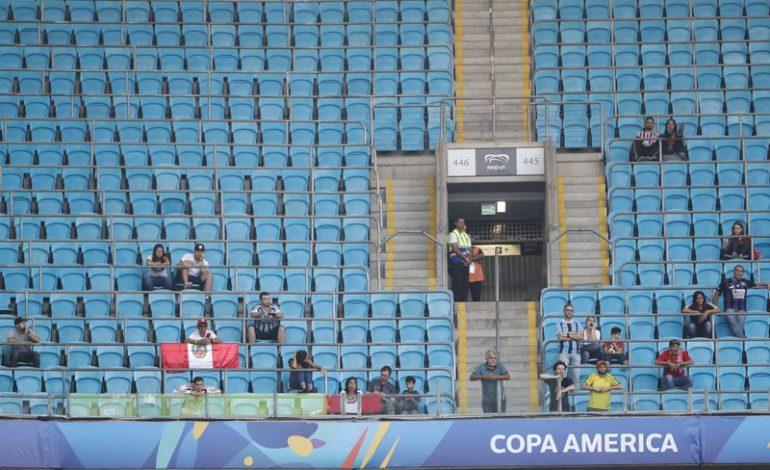 Gradas vacías por todas partes en la Copa América