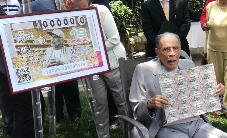 Lotería Nacional emite billete reconociendo a Ignacio Trelles