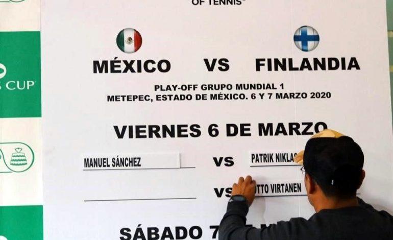Listos enfrentamientos de la Copa Davis entre México y Finlandia