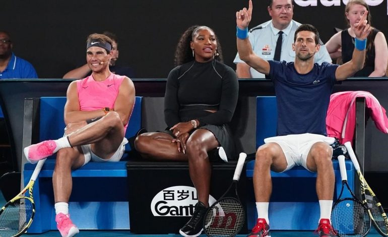 Djokovic, Nadal y Serena Williams van a Estados Unidos