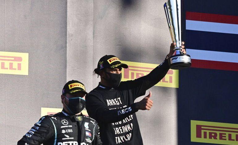 Hamilton suma su victoria 90 en un accidentado Gran Premio de Toscana