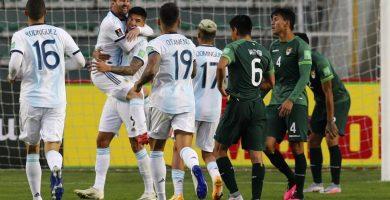 Argentina vence a Bolivia como visitante tras 15 años de no hacerlo