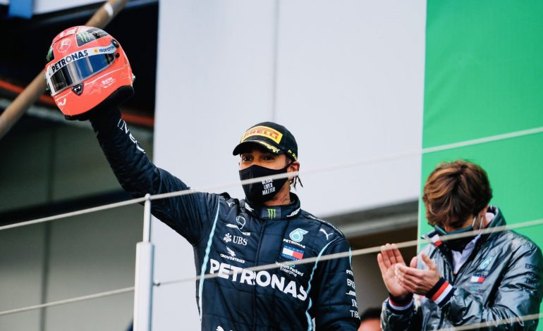 Hamilton iguala el récord de Schumacher en la F1 al lograr su victoria número 91