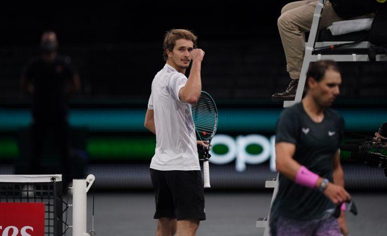 Zverev derrota a Nadal en París y se medirá en la final a Medvedev