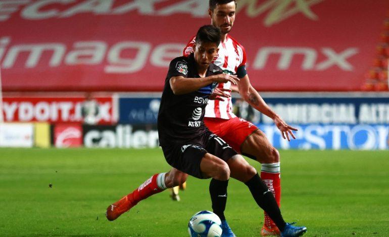 Necaxa rescata empate en casa ante Monterrey