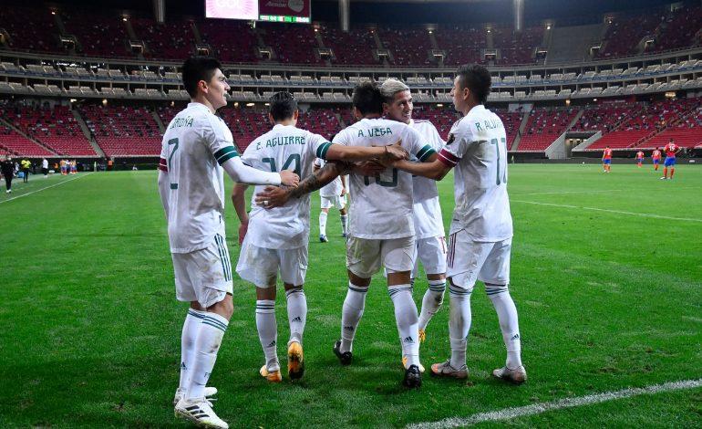 México golea a Costa Rica y se instala en semifinales del preolímpico de Concacaf