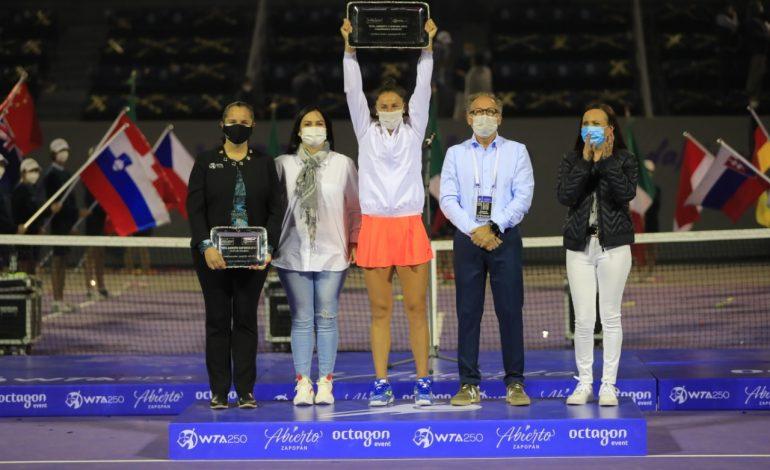 Española Sara Sorribes gana a Bouchard y su primer título en México